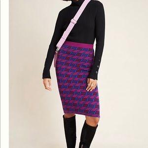 ANTHRO Maeve Geo Print Sweater Pencil Skirt NWT